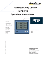 Operating Manual UMG503