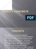thirsty concrete