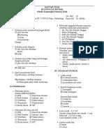 Daftar Tilik Mala