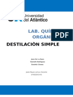 Informe 5 Destilacion Simple