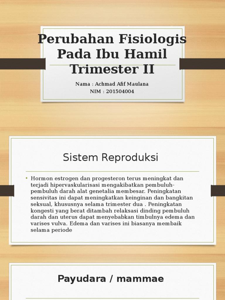 Perubahan Fisiologis Pada Ibu Hamil Trimester Ii Pdf
