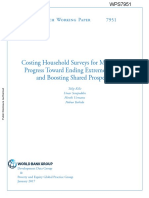 Costing Household Surveys for Monitoring Progress Toward Ending Extreme Poverty and Boosting Shared Prosperity