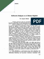 AUgusto Malaret Influencia Indigena en el idioma español