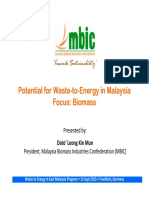 Datoleong Kin Mun - Potential for Waste-To-Energy in Malaysia