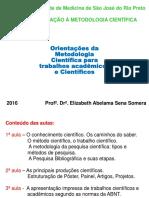 2016 - Iniciação Científica Medicina Profª Beth Somera