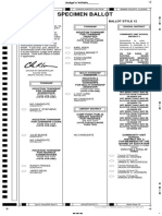 Houston Ballot Style 12 - April 2017