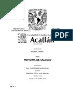 Memoria de Calculo Estriuctural Proyecto Casa Habitacion - Completa