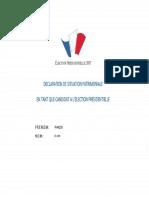 Déclaration de patrimoine - Fillon