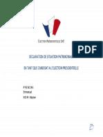 Déclaration de patrimoine - Macron