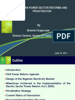 Electric Sector Power Reform Act ( 2005) - Bolanle Onagoruwa Presentation to DG SEC