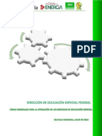 2016 Lineas Generales Para La Operacion de Los Servicios de Educación Especial