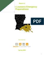 Report on Southern Louisiana Emergency Preparedness, Spring 2009