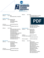 Schedule - 2017 NCAA DI Men's Swimming & Diving Championships