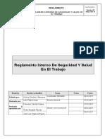 Reglamento Interno de Seguridad y Salud en El Trabajo