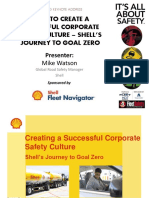 How to Create a Successful Corporate Safety Culture - Shells Journey to Goal Zerio - Mike Watson