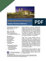 Modular Refineries - Global Equipment & Finance Inc.