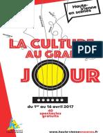 Le programme complet de la Culture au grand Jour
