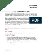 Tugas Ketiga Bhs Inggris Reading Comprehention Skills