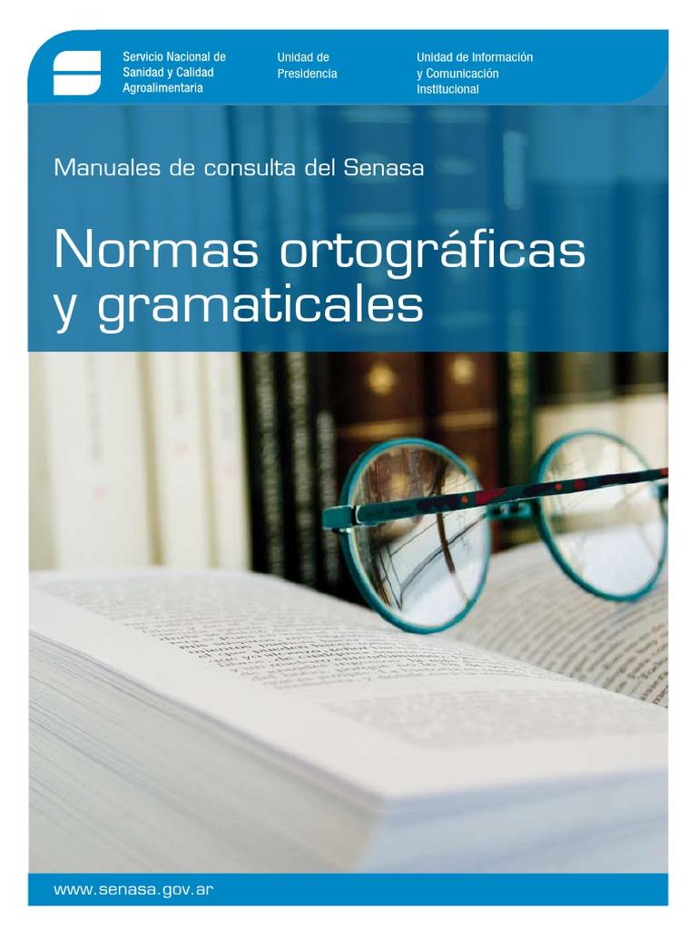 Manual de Normas Ortográficas y Gramaticales