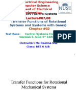 Lecture 07,08 Rotational Mechanical Systems and Systems With Gears Copy