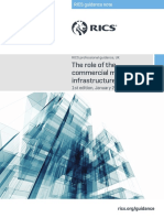Rics Guidance Note the Role of the Commercial Manager in Infrastructure 1st Edition 2017