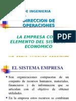LA EMPRESA Como Elemento Del Sistema Economico