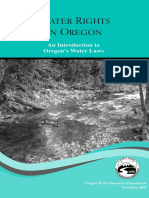 Water Rules Oregon