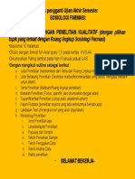 Soal UAS Sosiologi Farmasi