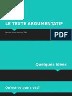 Le Texte Argumentatif (1)