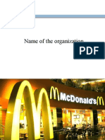 Presentation on McDonald's Pakistan