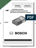 Metros Digitales Laser Dlr130k Bosch Manual Espanol