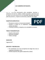 Plan Gobierno Estudiantil