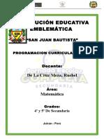 Programacion San Juan 2016 Mat 5