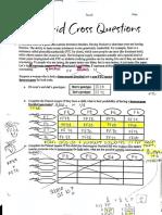 dihybrid cross questions key