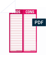 Pros and Cons Page