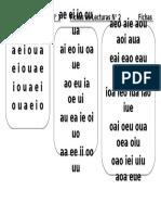 Fichas de Lecturas N 1,2,3 VOCALES