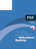 Peace Corps 'The 2002 Report of Volunteer Safety' The Safety of the Volunteer  2002