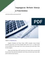 Artikel - Pentingnya Penganggaran Berbasis Kinerja Di Lingkungan Pemerintahan