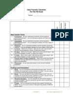 Heat Checklist