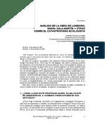 ANÁLISIS DE LA OBRA DE LOMBORG, SIMON, SALA-MARTÍN Y OTROS SOBRE EL CATASTROFISMO ECOLOGISTA