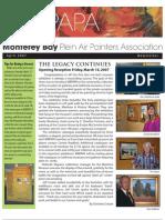 2009 V 3 Monterey Bay Plein Air Painters Association Newsletter