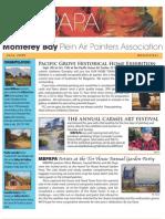 2009 V 4 Monterey Bay Plein Air Painters Association Newsletter