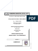 Presupuesto Mantenimiento Vicente Ballivian