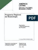 Programa Regional de Musicologia
