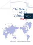 Peace Corps   The safety of the Volunteer 2003