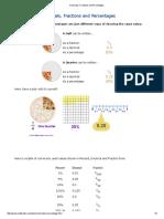 Decimals, Fractions and Percentages