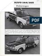 Volvo 144-145 Polis Politie Brochure '71.