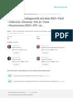 Persönlichkeitsdiagnostikmitdem NEO−Fünf −Faktoren-Inventar