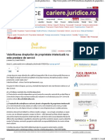 Valorificarea Drepturilor de Proprietate Intelectuala Nu Este Prestare de Servicii JURIDICE