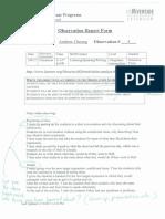 observation report 4